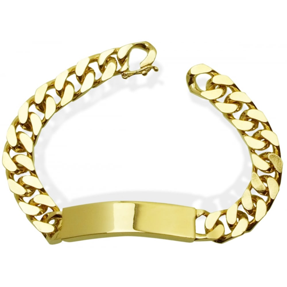 Luxury 18K Heavy Gold Layered Big Curb Bracelet
