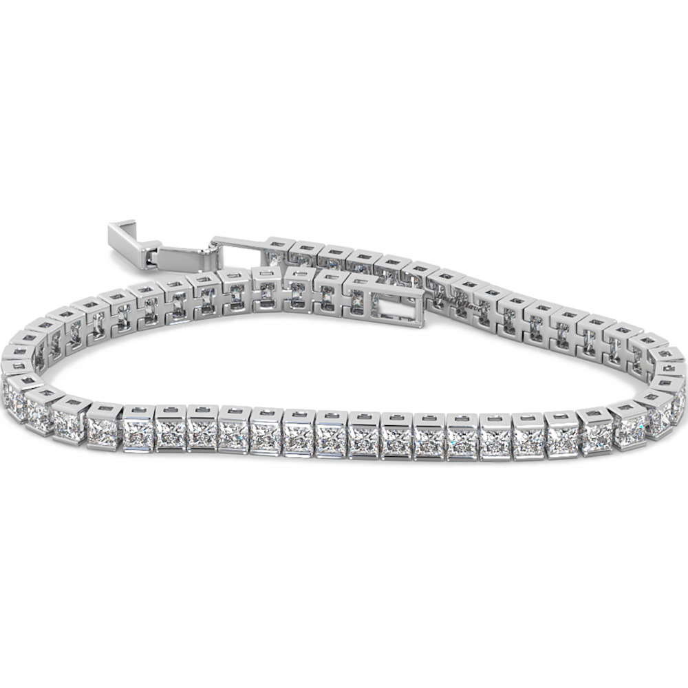 bracelet eternity ct in line platinum diamond emerald tw tennis pin cut