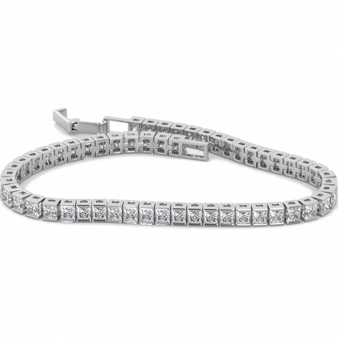 925 Sterling Silver Cubic Zirconia Tennis Bracelet -7 inches