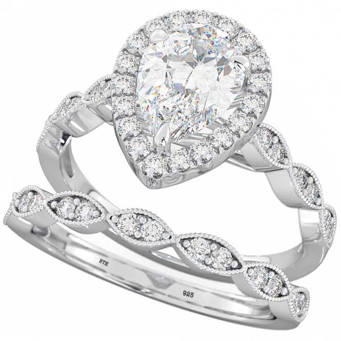 new tear drop engagement rings