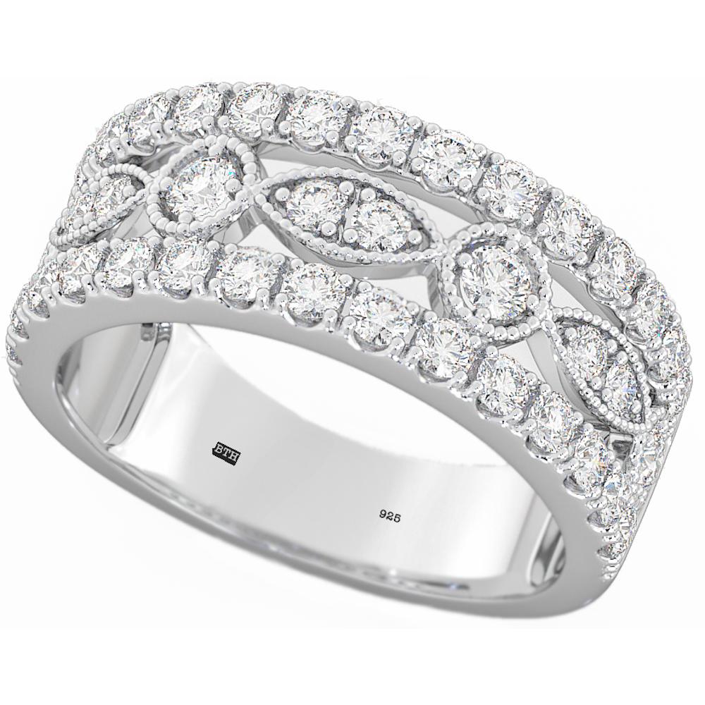 925 sterling silver unique wedding engagement half