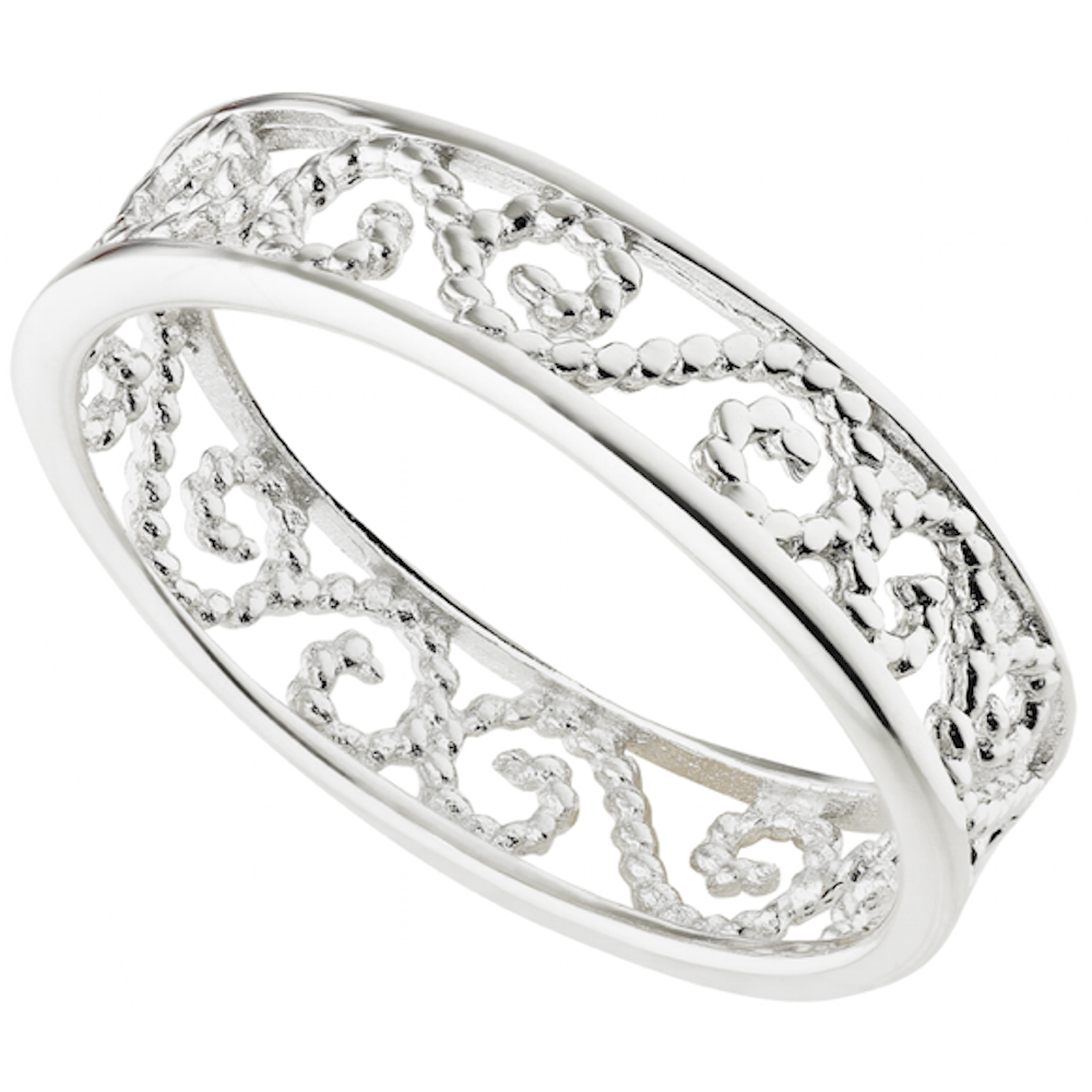wedding engagement bridal band floral ring