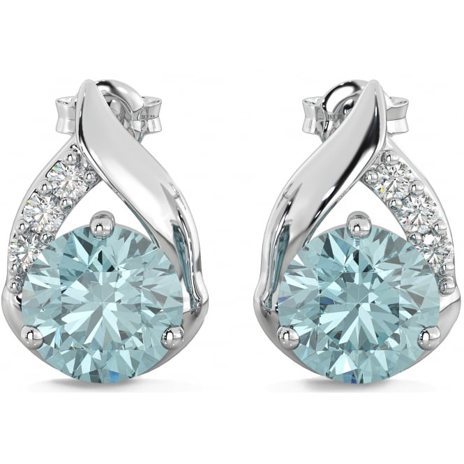 925 Sterling Silver Teardrop 4.2 Carats Sky Blue Topaz Earrings