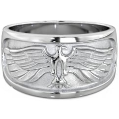 Alfa Heights Men's 925 Sterling Silver Eagle Ring