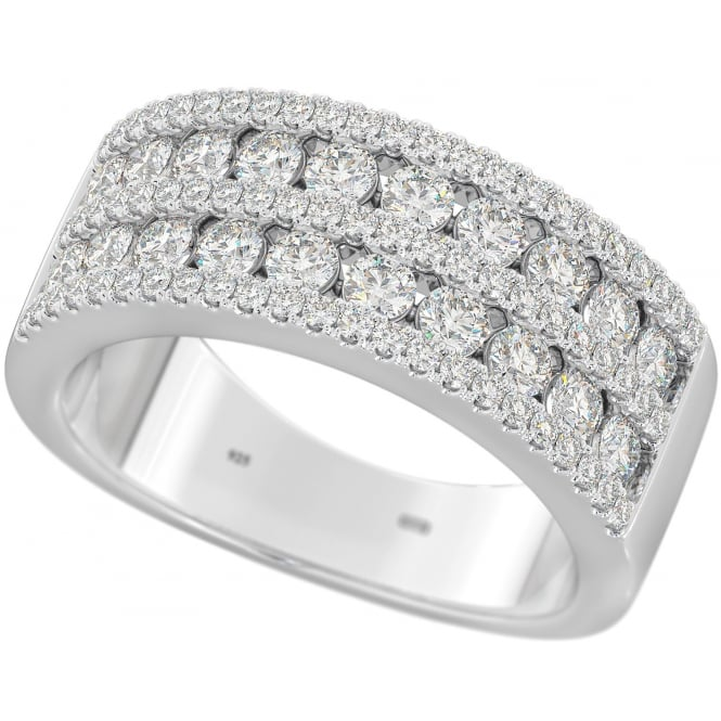 Cherish 925 Sterling Silver Wedding Eternity Ring with Cubic Zirconia