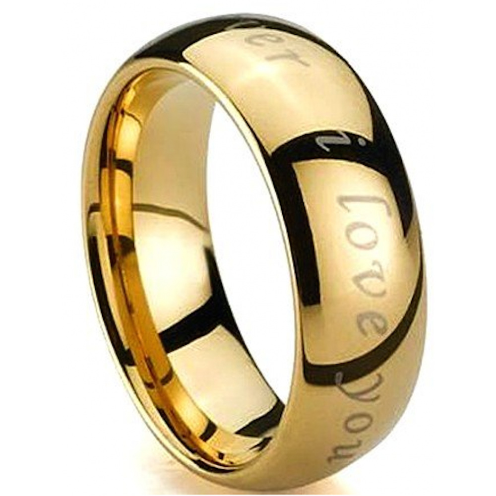 for gold band rings ring mens him domed tungsten comfort plated bling fit polish bands high wedding carbide polished jewelry