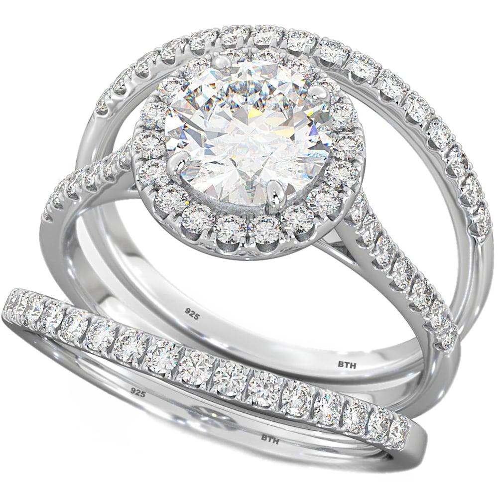 now forever and always wedding ring set. Black Bedroom Furniture Sets. Home Design Ideas