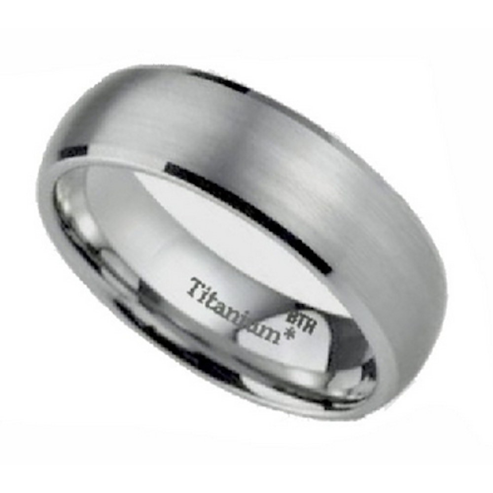 His And Hers Couple Rings Set Titanium 925 Sterling Silver
