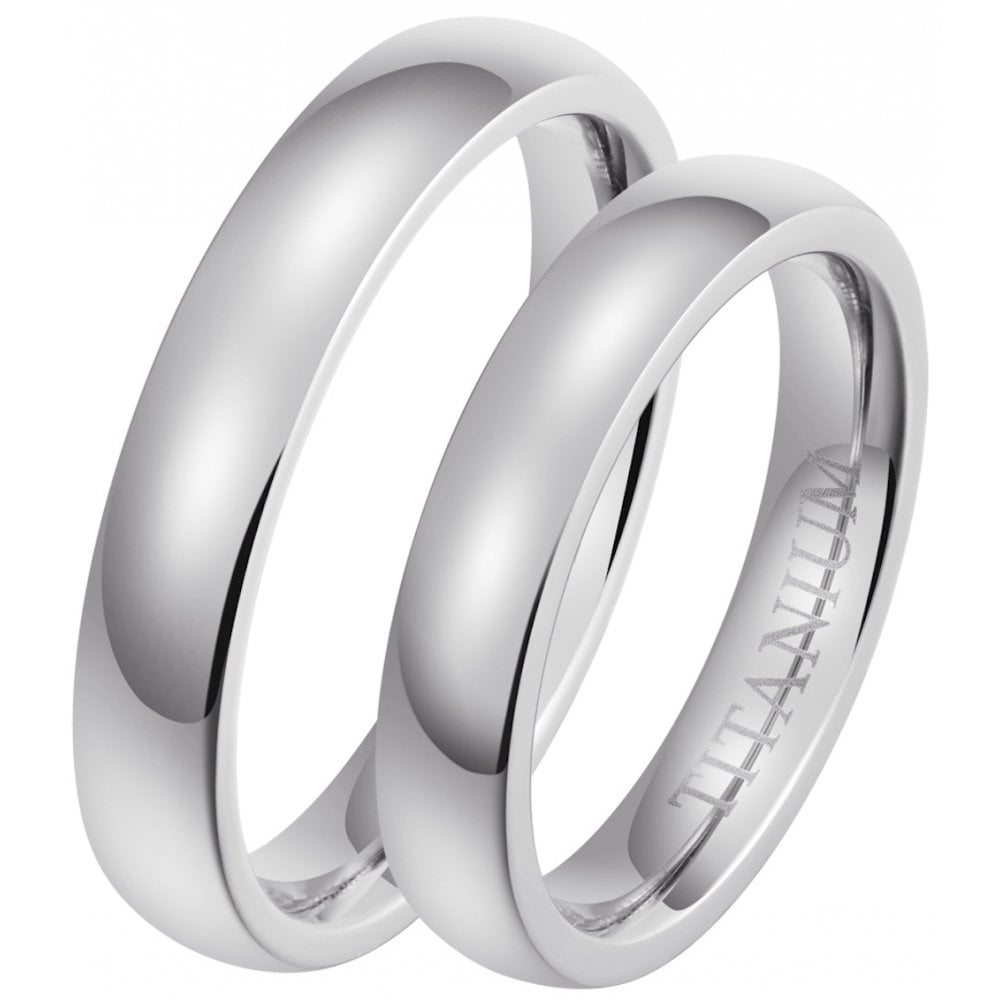 Candour Titanium Wedding Ring Set