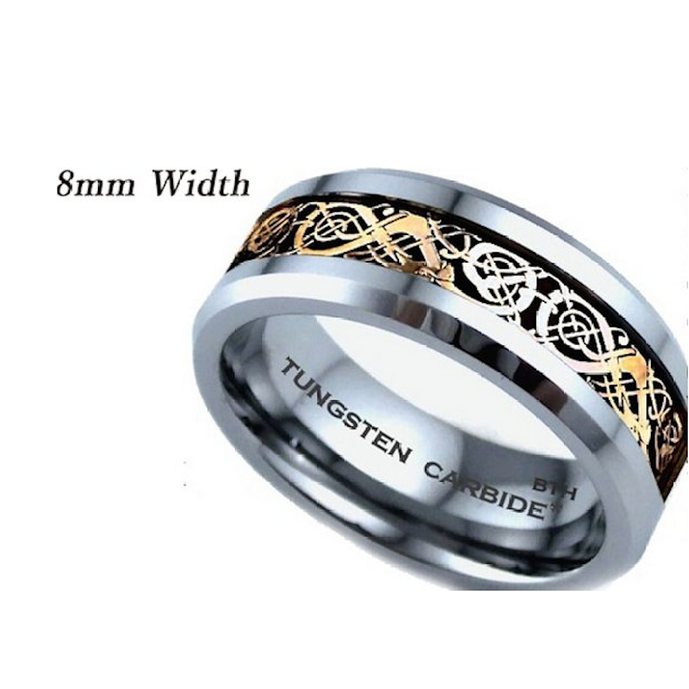 His And Hers Matching Tungsten Carbide Wedding Engagement Ring ...