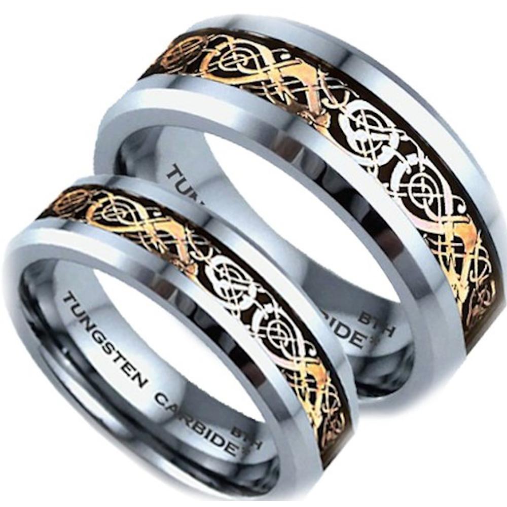 Tungsten Carbide Couple Rings