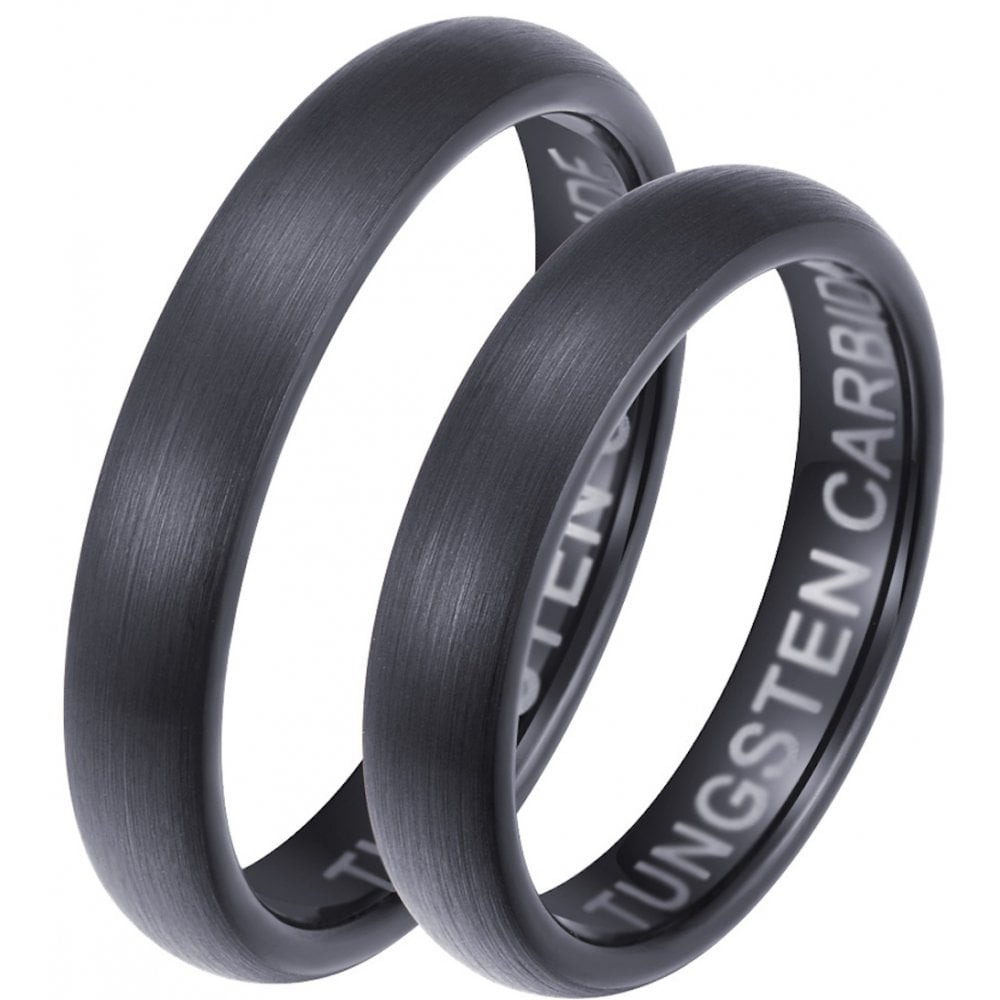 It is just a photo of His Hers Matching Black Tungsten Carbide Couples Wedding Ring Set