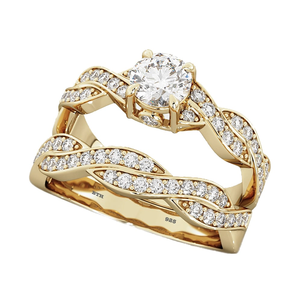 twist gold infinity white ct engagement your in ring micropav build own setmain diamond review