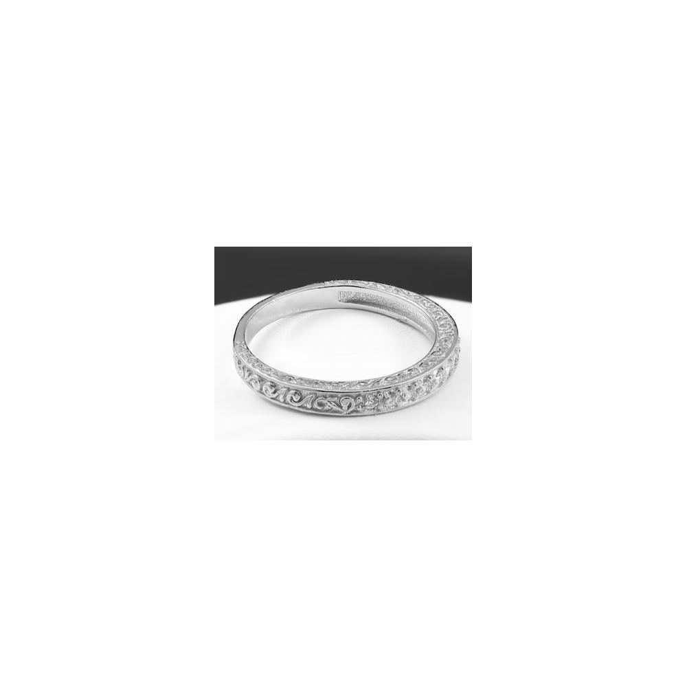 925 sterling silver half eternity cubic zirconia wedding