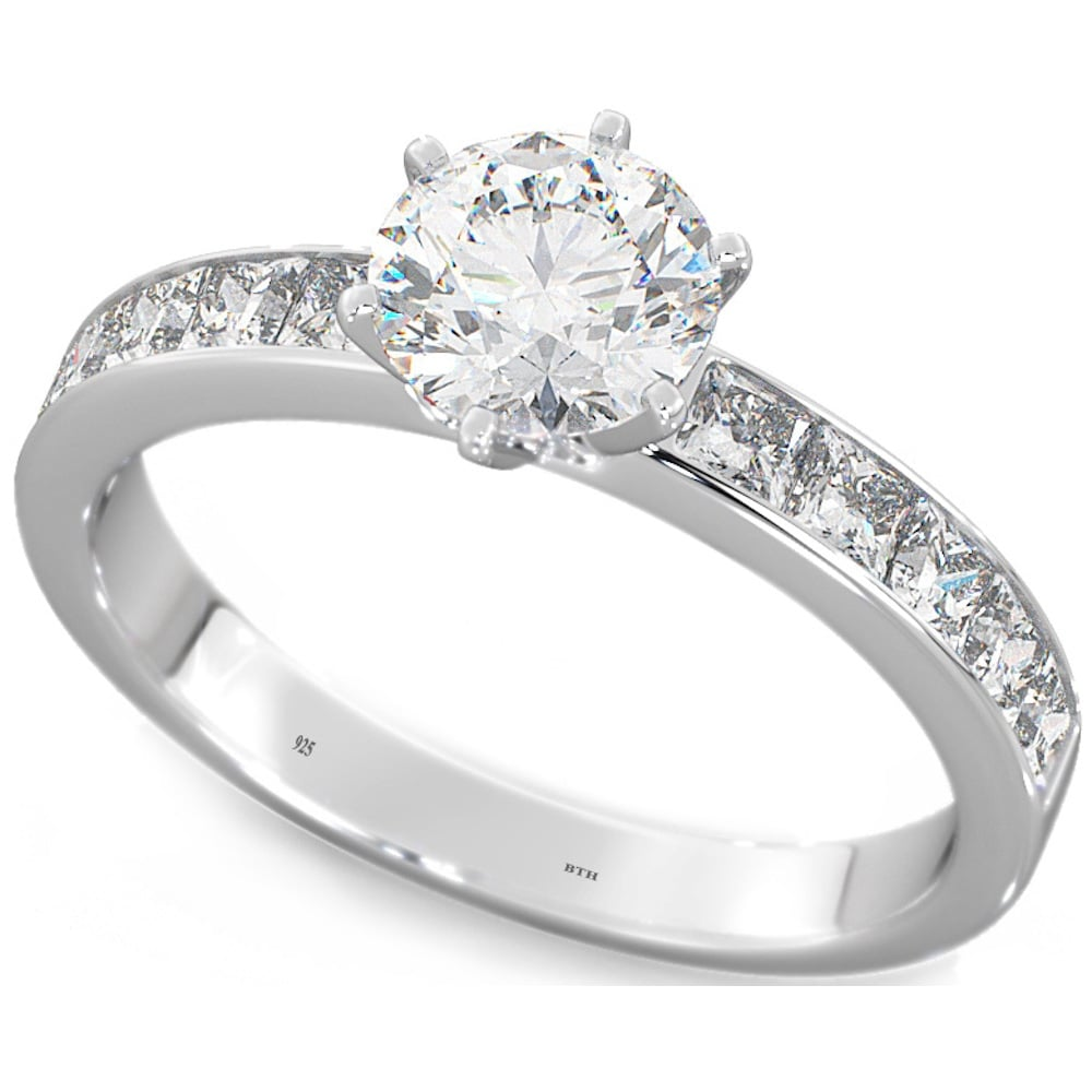 ring kaplan engagement eternity wedding solitaire cut white arthur products four gold claw diamond asscher rings