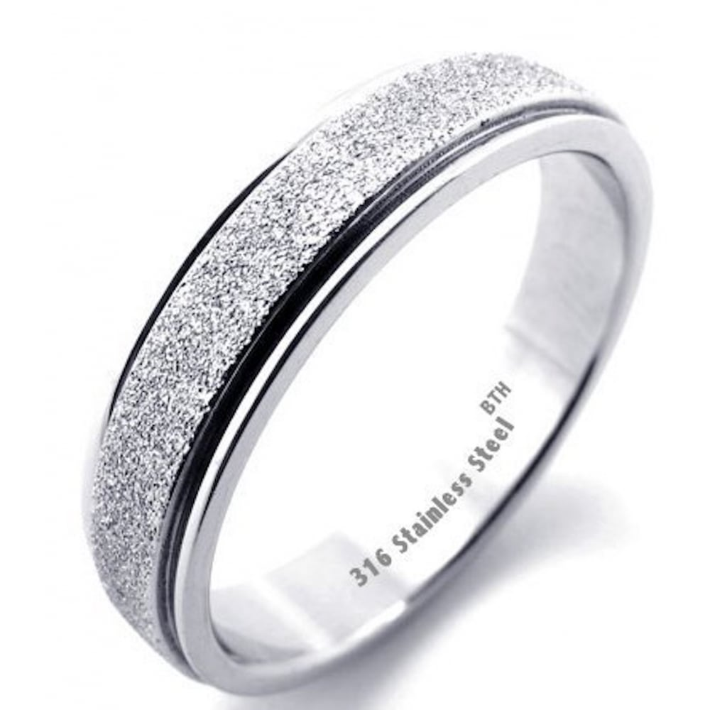 ring image rings luxury silver inlay womens stainless engagement jewellery ladies steel colour band sparkle