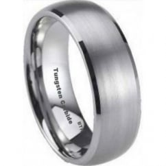Luxury 8mm Mens Tungsten Carbide Classic Luxury Wedding Engagement Comfort Fit Band Ring - Unisex