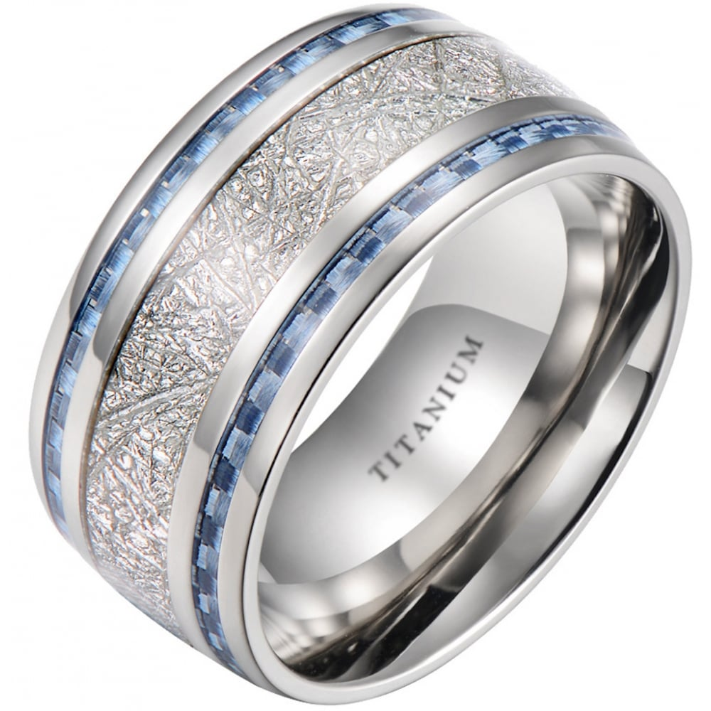 bevelled bands edge au rings wedding p ring titanium with