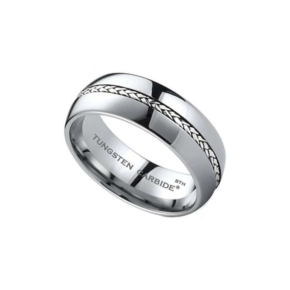 rings tungsten zoom engagement bands anniversary masculine il listing antler ring fullxfull wedding