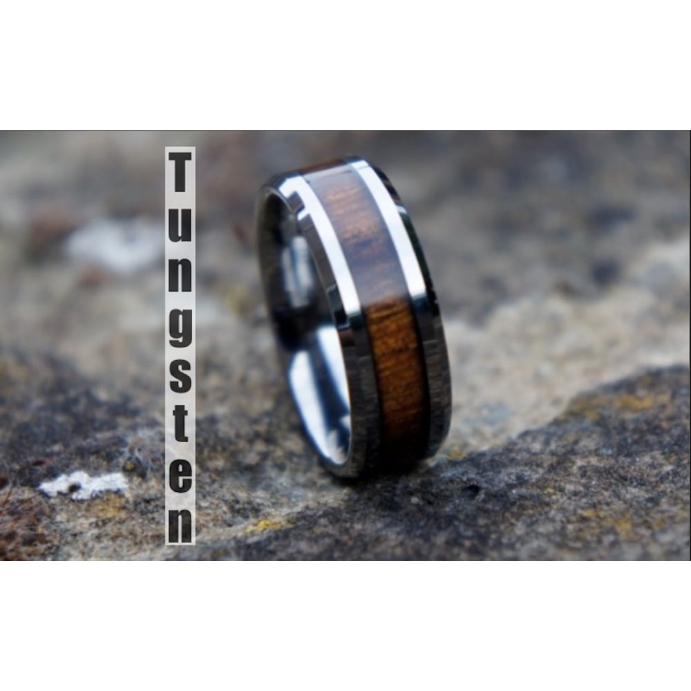Tungsten And Wood Wedding Bands Wedding Photography