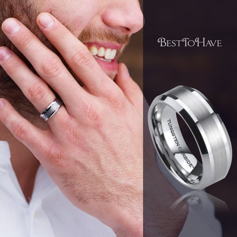 It is just a picture of Mens Scratch Resistant Tungsten Carbide Wedding Band Ring
