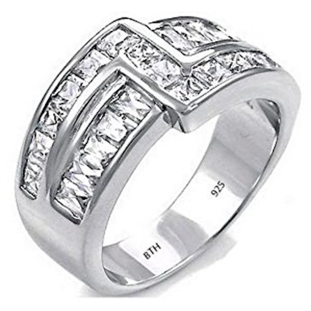 It is just a picture of Mens Sterling Silver Cubic Zirconia Fashion Statement Ring