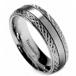 Mens Titanium 7mm Wide Classic Unisex Wedding Engagement Comfort Fit Jewellery Band Ring