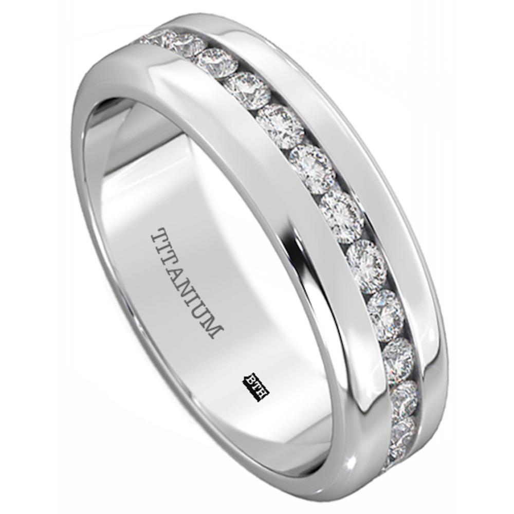 Mens Titanium 6mm Wide Classic Unisex Wedding Engagement Band Ring