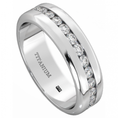 Mens Titanium Ring-6mm Wide Classic Unisex Wedding Engagement Band Ring