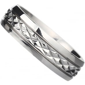 Mens TiTanium Ring With Engraved Inside With I Love You Unisex Wedding Band Ring