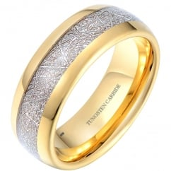Mens Tungsten Meteorite Classic Unisex Wedding Band Ring