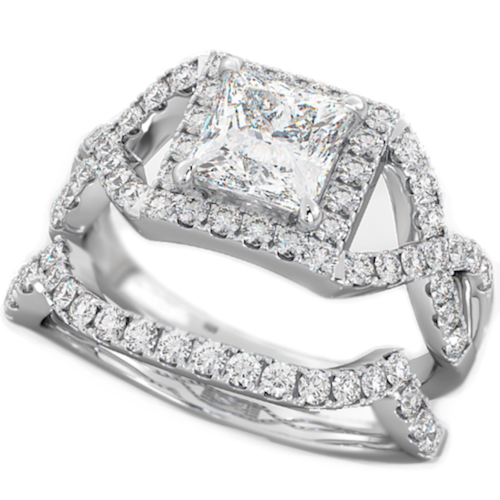 round cut cz halo design 2 piece genuine 925 sterling silver