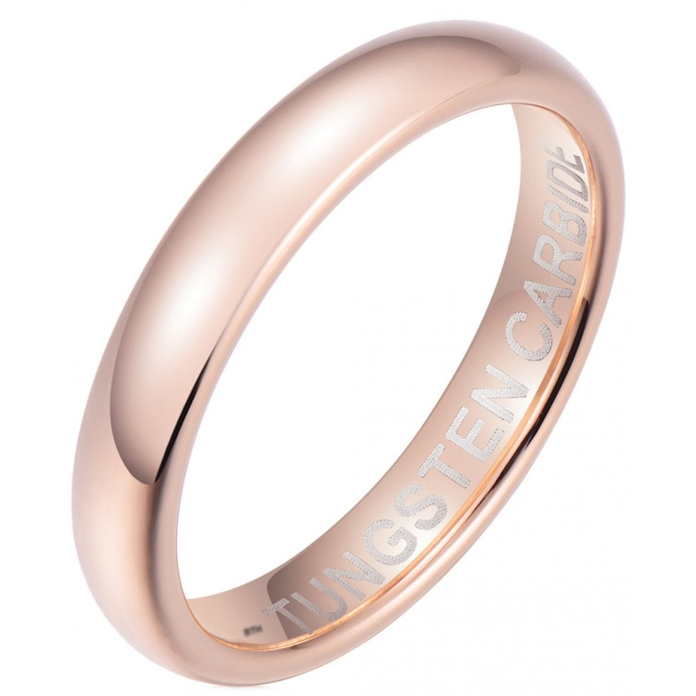 Rose Gold Tungsten Carbide Engagement Wedding Band Eternity Ring - Unisex