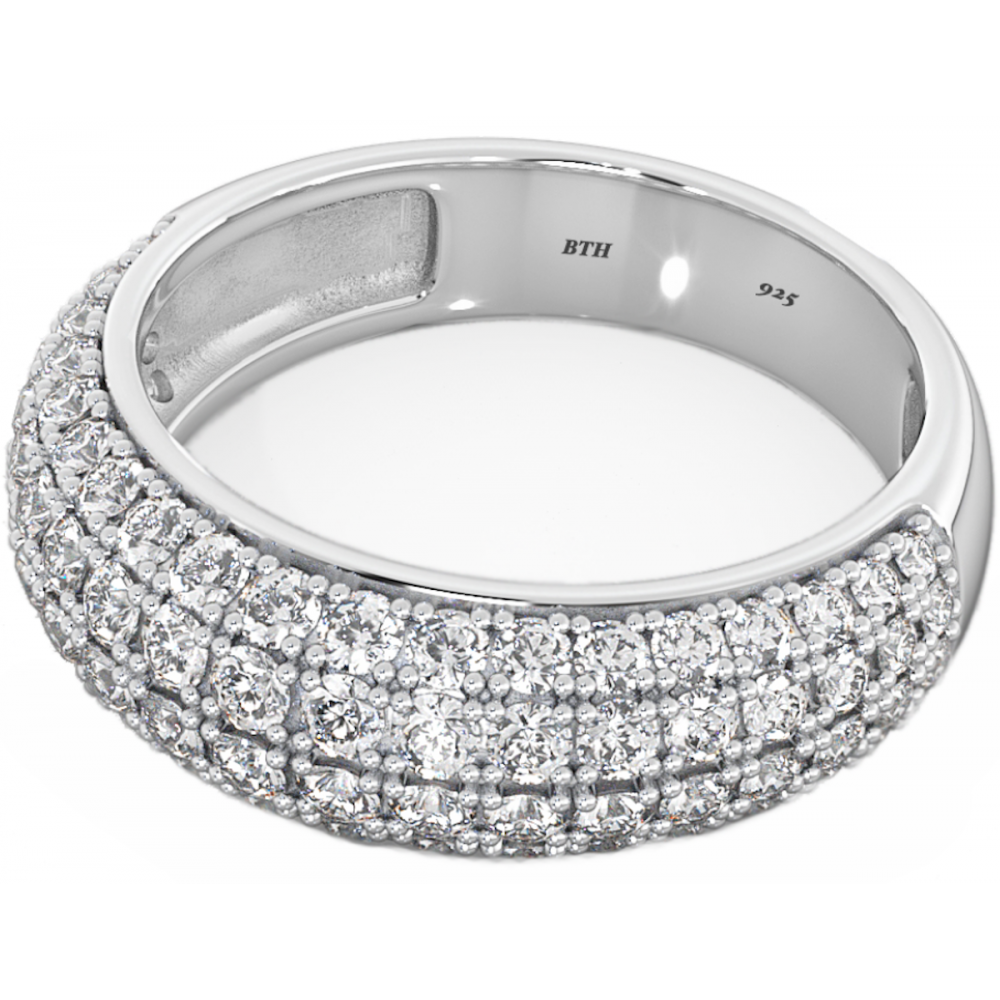 Wedding Engagement Bridal Band Round Cut Ring