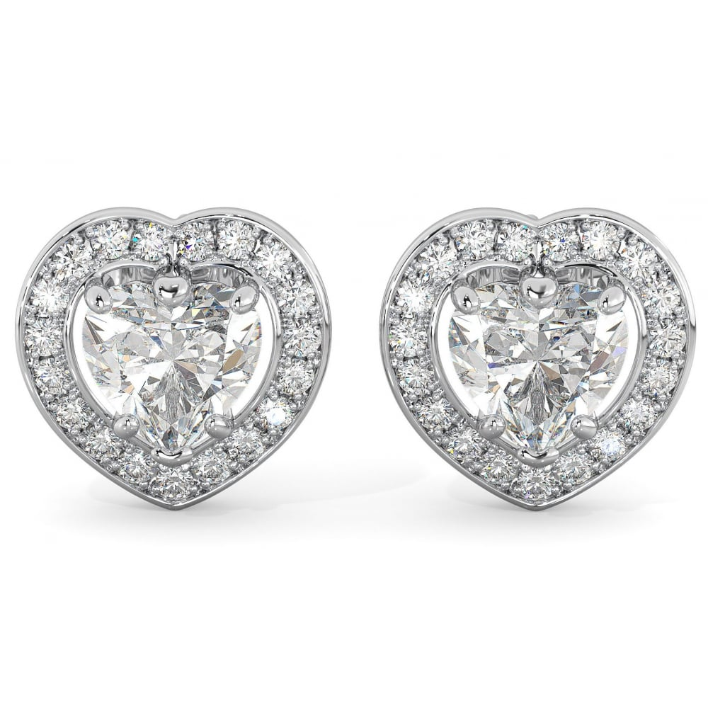 stud w earrings diamond halo white gold