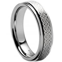 Tungsten Carbide Celtic Wedding Band Ring Unisex -7mm