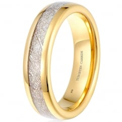 Unisex Tungsten Carbide ring , 6mm Wide Meteorite Classic Wedding Engagement Band Ring